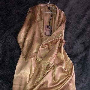 Satin robe set